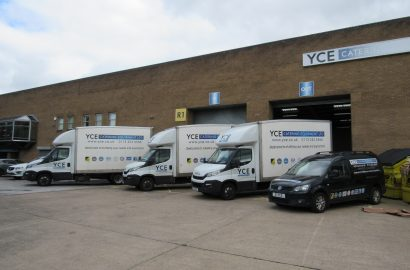 2 Tesla Cars, 3 Iveco Luton Vans and a VW Caddy Van