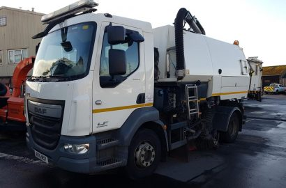 Johnston Sweeper and 6 Dennis Eagle Refuse Collection Vehicles